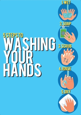 5 step tp washing your hands