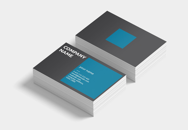 90 x 55 business card blue square