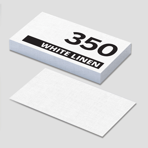 Textured White Linen Business Cards